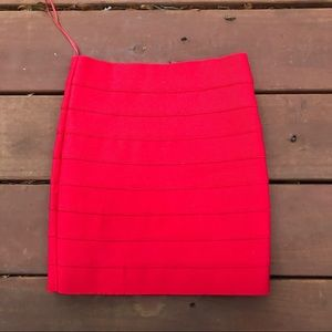 TOBI Cherry Red Bodycon Skirt